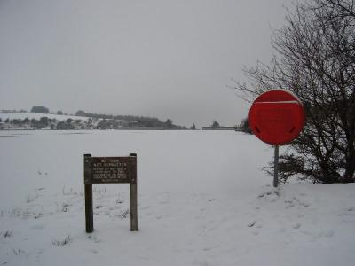 Fernworthy Reservoir - frozen over