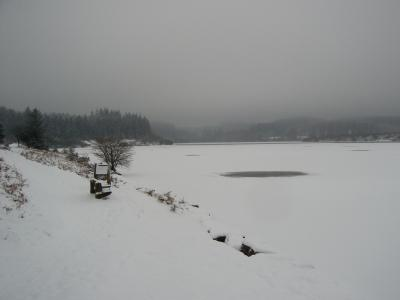 Another view of the frozen reservoir
